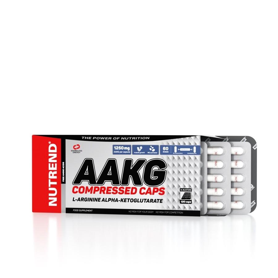 AAKG Compressed Caps 120 kapslí - Nutrend