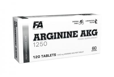 Arginine AKG 1250 blisters 120tbl - Fitness Authority