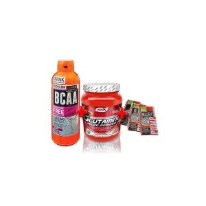 Balíček č.2 - BCAA Free Form + Glutamin 500g + 3x Hellgel