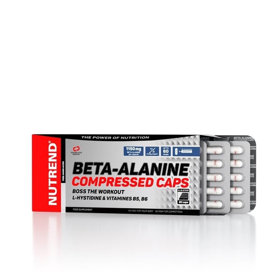 Beta-Alanine Compressed Caps 90 kapslí - Nutrend