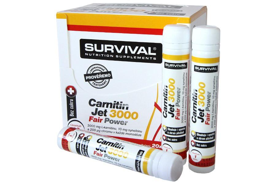 Carnitin JET 3000 20 ampulí á 25ml - Survival
