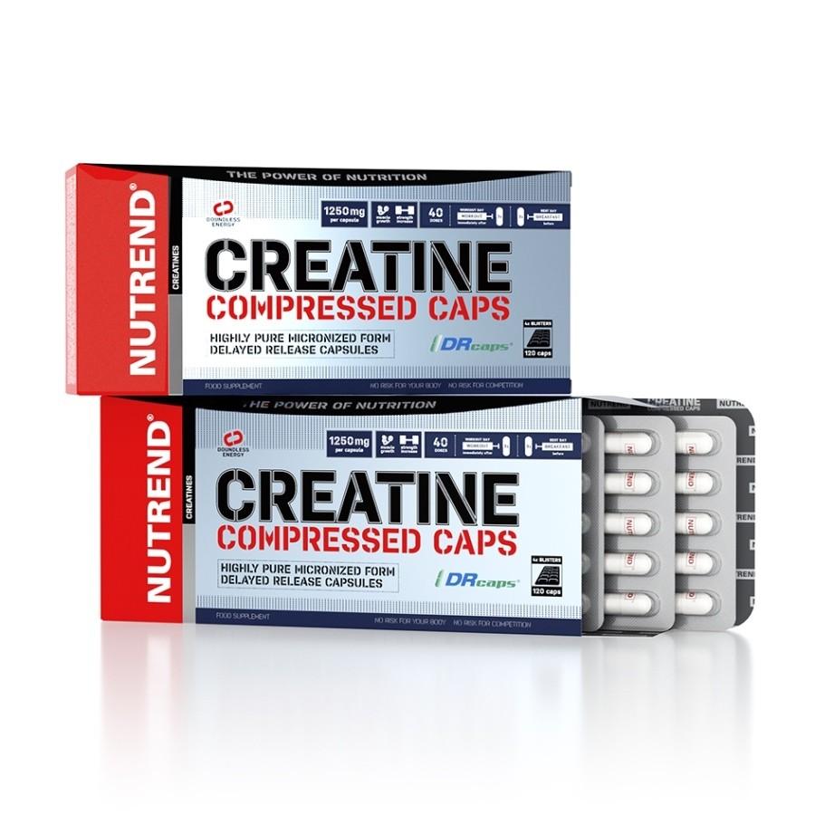 Creatine Compressed Caps 120 kapslí - Nutrend