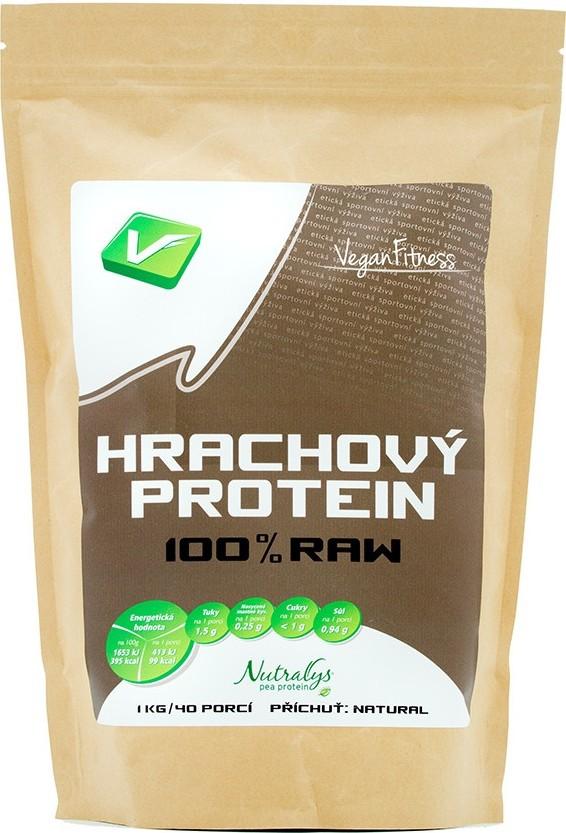 Hrachový Protein 100% RAW 1000g sáček - Vegan Fitness