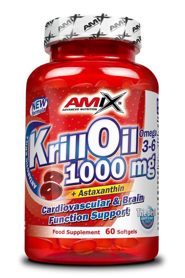 Krill Oil 1000mg 60 tekutých kapslí - Amix