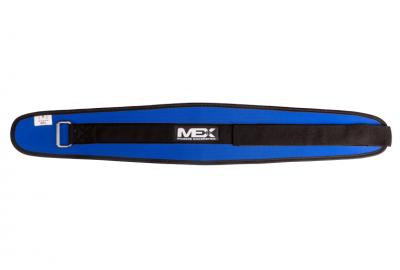 MEX Nutrition kulturistický opasek suchý zip Blue