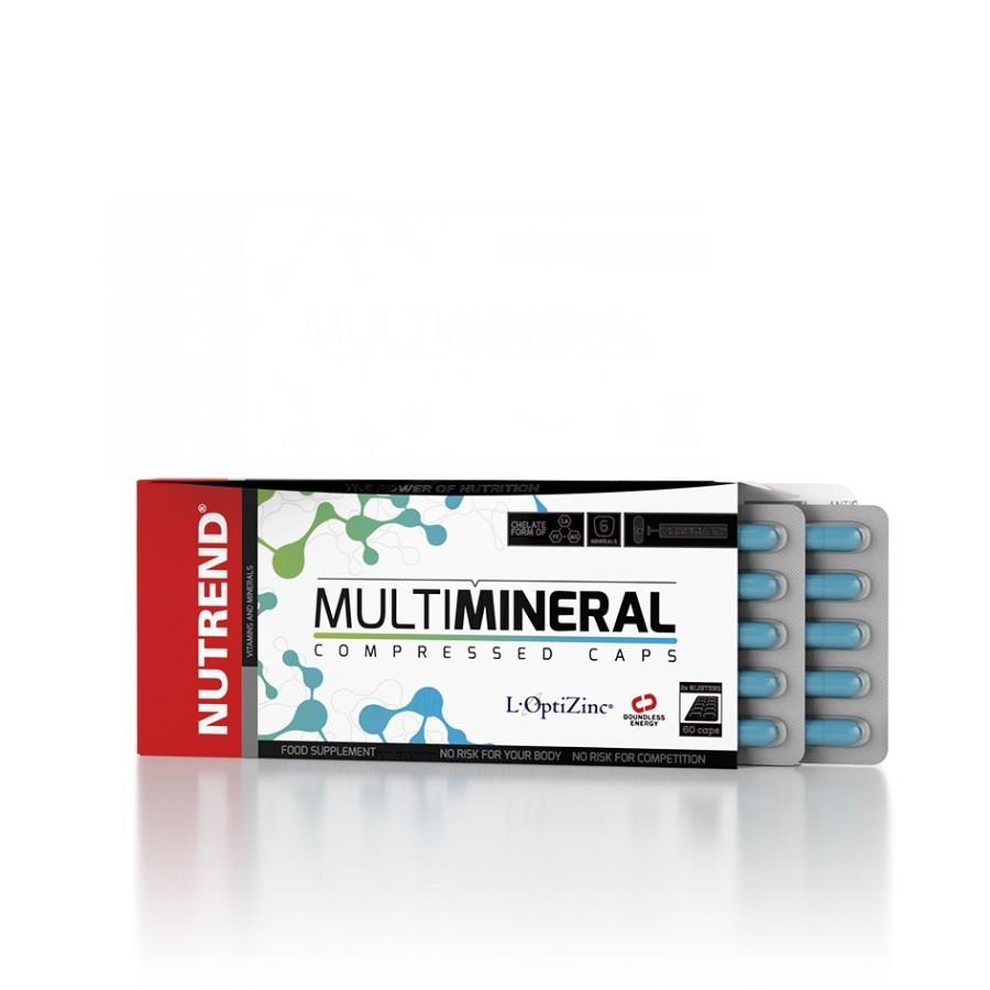 Multimineral Compressed Caps 60 kapslí - Nutrend