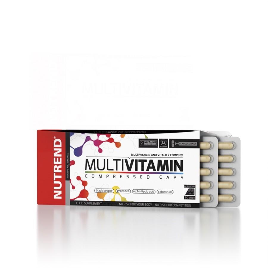 Multivitamin Compressed Caps 60 kapslí - Nutrend