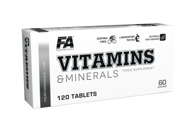 Vitamins and Minerals 120 tablet Fitness Authority